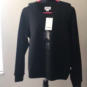 Converse women's black crew neck sweater brand new